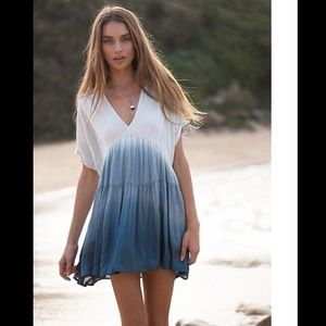 Free People Sun Up Tie Dye Ombre Mini Dress Tunic